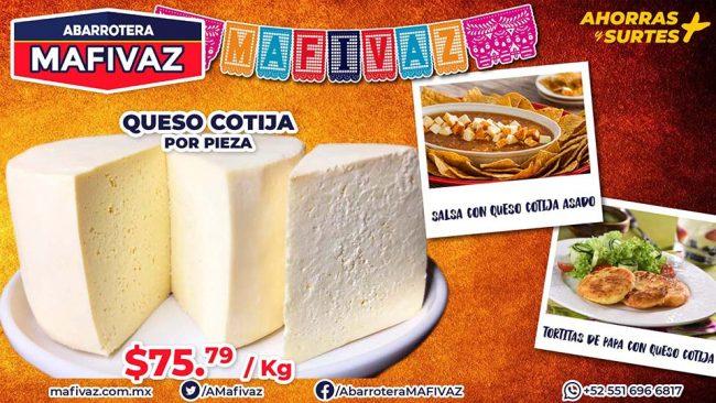 Queso Cotija Mafivaz y Recetas con Queso Cotija